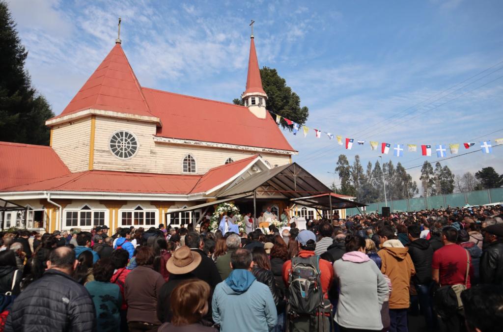 Fiesta de la Virgen del Tránsito en el Santuario de Metrenco
